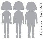 a set of silhouette girl body... | Shutterstock .eps vector #1167545554