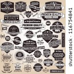 set of vintage retro labels ... | Shutterstock .eps vector #116754841