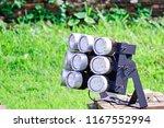 close up of led spotlights in... | Shutterstock . vector #1167552994
