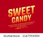glossy bright sign sweet candy. ... | Shutterstock .eps vector #1167553504