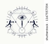 mystery  witchcraft  occult and ... | Shutterstock .eps vector #1167557554