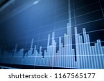 stock market graph analysis for ... | Shutterstock . vector #1167565177