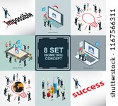 business success and life style ... | Shutterstock .eps vector #1167566311