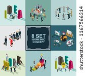business idea isometric set | Shutterstock .eps vector #1167566314