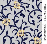 vector flowers pattern on... | Shutterstock .eps vector #1167574867