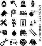 Fireman icons - stock vector