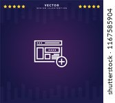 outline web site icon isolated...