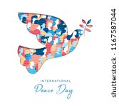 international peace day... | Shutterstock .eps vector #1167587044