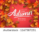 autumn sale background  hand...   Shutterstock .eps vector #1167587251