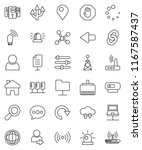 thin line vector icon set  ... | Shutterstock .eps vector #1167587437