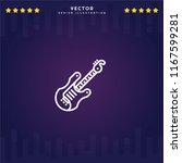 outline electric guitar icon...
