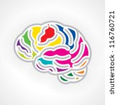 human brain | Shutterstock .eps vector #116760721