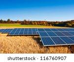 Solar Panels On Autumn Field...