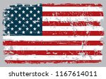 grunge flag of usa.vector... | Shutterstock .eps vector #1167614011