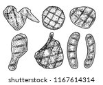 grilled meat illustration ... | Shutterstock .eps vector #1167614314