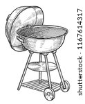 charcoal barbecue grill... | Shutterstock .eps vector #1167614317