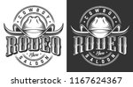 wild west emblems with cowboy... | Shutterstock .eps vector #1167624367