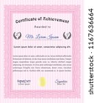 pink certificate or diploma... | Shutterstock .eps vector #1167636664