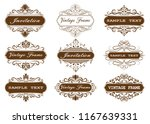 set of decorative frame in... | Shutterstock .eps vector #1167639331