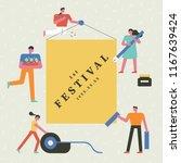 school festival poster concept... | Shutterstock .eps vector #1167639424