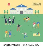images of various students on... | Shutterstock .eps vector #1167639427