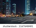 empty pavement and modern... | Shutterstock . vector #1167648481