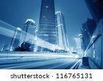 the light trails on the modern... | Shutterstock . vector #116765131