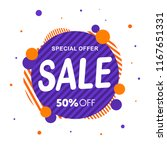special offer  sale banner... | Shutterstock .eps vector #1167651331