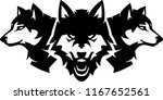 wolfpack animal set | Shutterstock .eps vector #1167652561