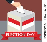 election day in indonesia with... | Shutterstock .eps vector #1167657604
