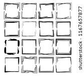 set of black rectangle grunge... | Shutterstock .eps vector #1167657877