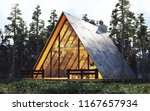 cabin  house in the woods 3d... | Shutterstock . vector #1167657934
