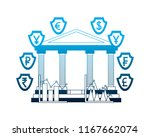 banking business foreign... | Shutterstock .eps vector #1167662074