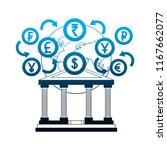banking world foreign exchange... | Shutterstock .eps vector #1167662077