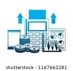 foreign exchange dataphone... | Shutterstock .eps vector #1167662281