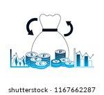foreign exchange money bag... | Shutterstock .eps vector #1167662287