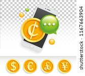icon banner ad price mobile sms ... | Shutterstock .eps vector #1167663904