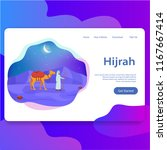 hijrah  islamic new year... | Shutterstock .eps vector #1167667414