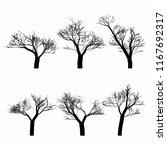 set of black naked trees... | Shutterstock .eps vector #1167692317