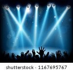 a stage with spotlights at a... | Shutterstock .eps vector #1167695767