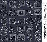 set of 25 icons such as user ...