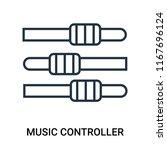 music controller icon vector... | Shutterstock .eps vector #1167696124
