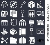 set of 25 icons such as saturn  ...
