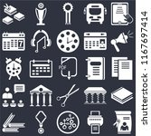 set of 25 icons such as diploma ...