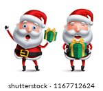 santa claus vector character... | Shutterstock .eps vector #1167712624