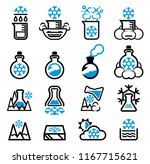 reaction ice and cold of... | Shutterstock .eps vector #1167715621