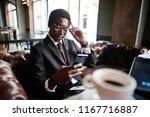 business african american man...   Shutterstock . vector #1167716887