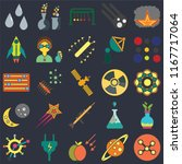 set of 25 icons such as network ...