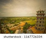 chinese pagoda and surrounding...   Shutterstock . vector #1167726334