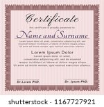 red certificate. detailed. with ... | Shutterstock .eps vector #1167727921